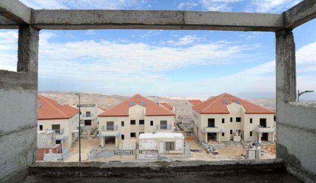 Logements en construction à Ma'aleh Adumim, une colonie israélienne en Cisjordanie, 16 décembre 2009 Photo Bloomberg