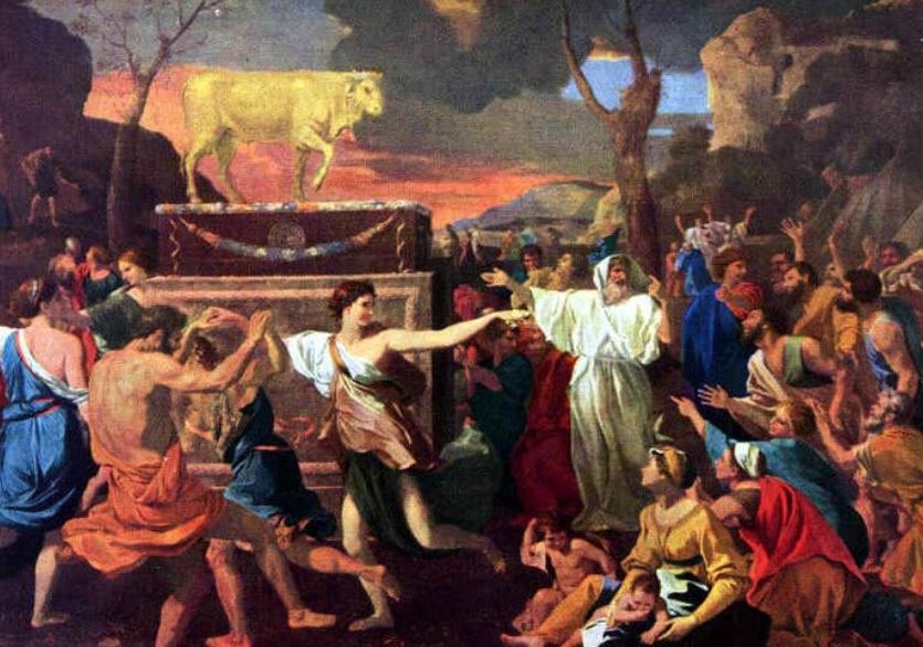 L'Adoration-du-veau-d-or-Nicolas-Poussin- EXTRAIT